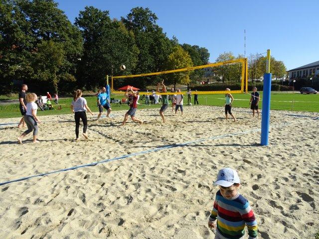 Einweihung Beachvolleyball
